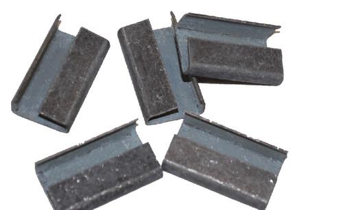 "3/4"" Metal Serratable Heavy Duty Polypropylene Strapping Seals 1,000 / Case"