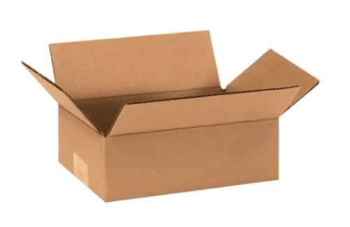 "9"" x 6"" x 3"" (200#/ECT-32) Flat Kraft Corrugated Cardboard Shipping Boxes"