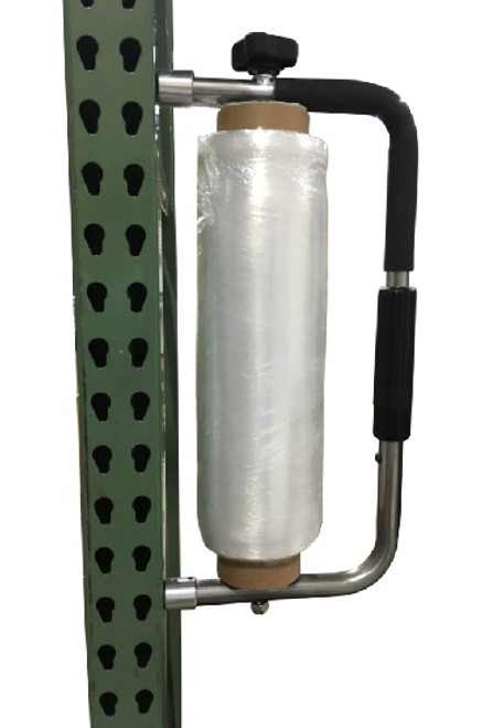 Stretch Wrap Dispenser with Magnetic Attachment