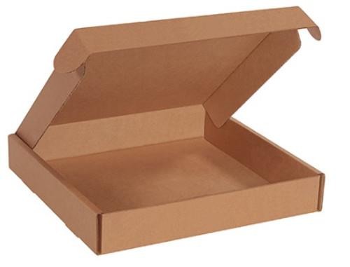 "12"" x 12"" x 2"" (200#/ECT-32-B) Kraft Deluxe Literature Corrugated Cardboard Mailers"