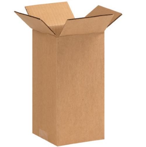 "4"" x 4"" x 9"" (ECT-32) Kraft Corrugated Cardboard Shipping Boxes"