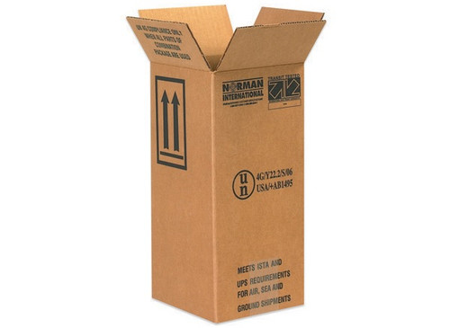 "6"" x 6"" x 12 3/4"" (ECT-44 Single Wall)  Holds 1 - 1 Gallon Plastic Jug Haz Mat Boxes"