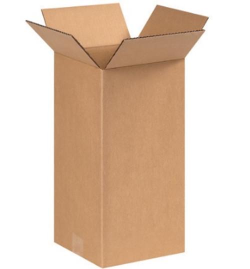 "6"" x 6"" x 14"" (ECT-32) Tall Kraft Corrugated Cardboard Shipping Boxes"
