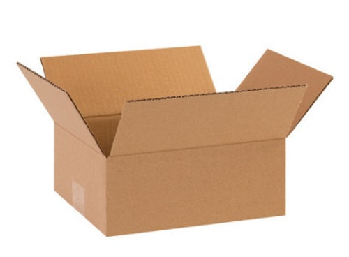 "8"" x 6"" x 3"" (200#/ECT-32) Flat Kraft Corrugated Cardboard Shipping Boxes"