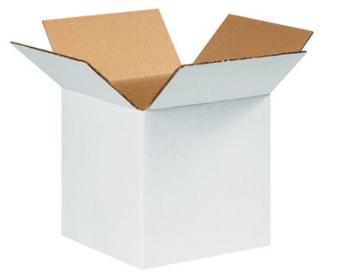 """9"""" x 9"""" x 9"""" (ECT-32) White Corrugated Cardboard Shipping Boxes"""