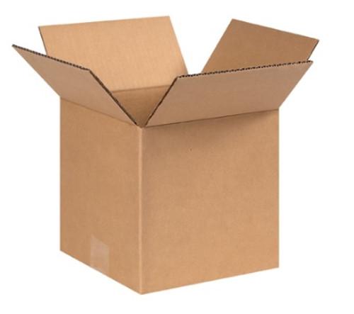 "9"" x 9"" x 9"" (ECT-44) Heavy Duty Single Wall Kraft Corrugated Cardboard Shipping Boxes"