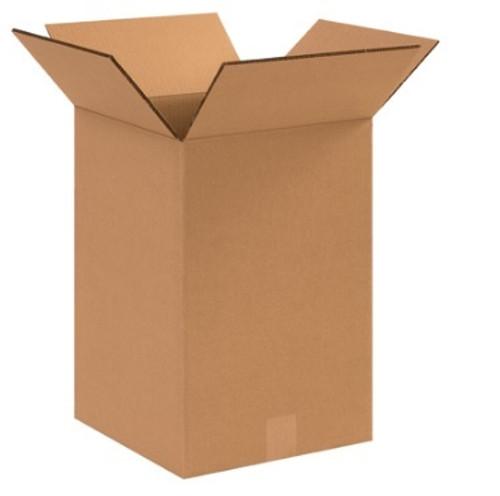 "12"" x 12"" x 18"" (DW/ECT-48) Heavy Duty Double Wall Kraft Corrugated Cardboard Shipping Boxes"