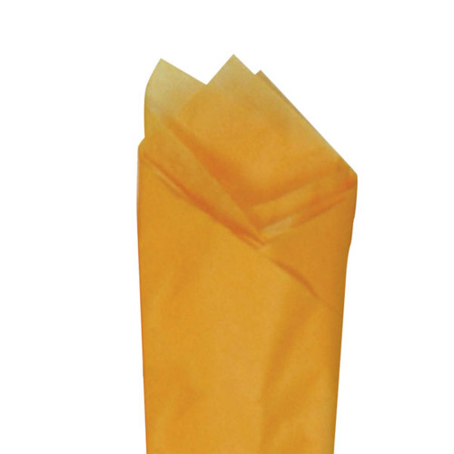 Apricot (Orange) Color Wrapping and Tissue Paper, Quire Folded