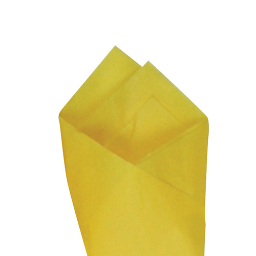 Buttercup (Yellow) Color Wrapping and Tissue Paper, Quire Folded