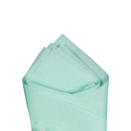 Cool Mint (Green) Color Wrapping and Tissue Paper, Quire Folded