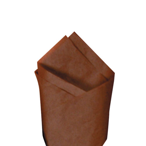 Raw Sienna (Brown) Color Wrapping and Tissue Paper, Quire Folded