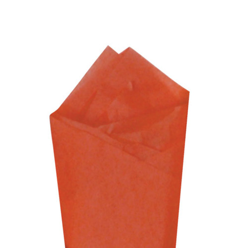 Sandstone (Orange) Color Wrapping and Tissue Paper, Quire Folded