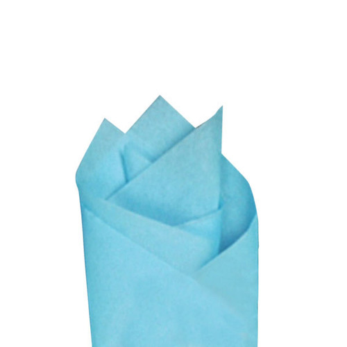 Sky Blue Color Wrapping and Tissue Paper, Quire Folded