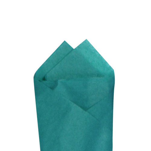 Teal (Blue) Color Wrapping and Tissue Paper, Quire Folded