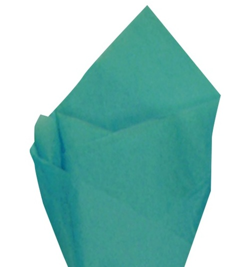 Caribbean Blue Color Wrapping and Tissue Paper, Quire Folded