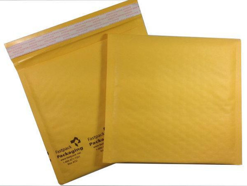 """FastPack Packaging Our Brand 7 1/4"""" x 7"""" #CD Kraft Self Seal Bubble Mailers Envelopes"""