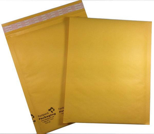 """FastPack Packaging Our Brand 8 1/2"""" X 11"""" #2 Kraft Self Seal Bubble Mailers Envelopes"""