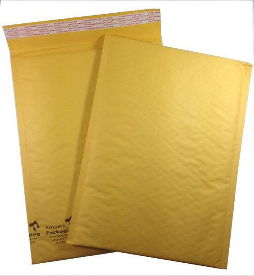 """FastPack Packaging Our Brand 9 1/2"""" x 13"""" #4 Kraft Self Seal Bubble Mailers Envelopes"""