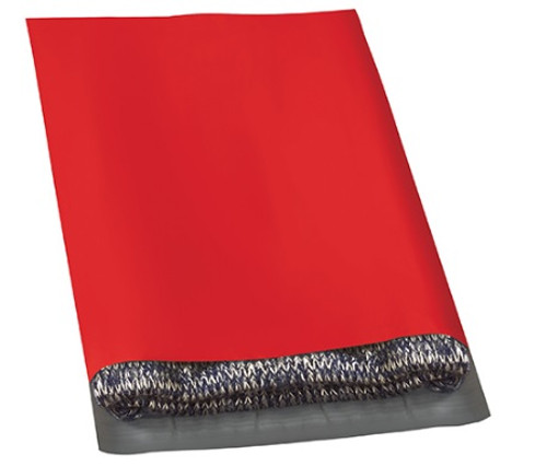 """12"""" x 15 1/2"""" Red Peel and Seal Poly Shipping Bags Mailers"""
