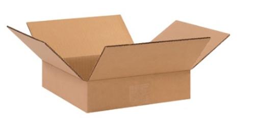 "10"" x 10"" x 2"" (ECT-32) Flat Kraft Corrugated Cardboard Shipping Boxes"
