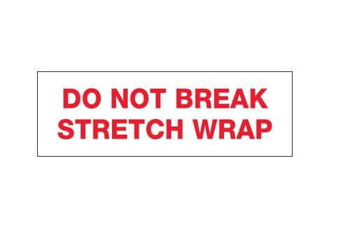 "Pre-Printed Carton Sealing Tape - ""Do Not Break Stretch Wrap"""