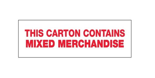 "Pre-Printed Carton Sealing Tape - ""Mixed Merchandise"""