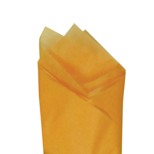 Goldenrod (Orange) Color Wrapping and Tissue Paper, Quire Folded