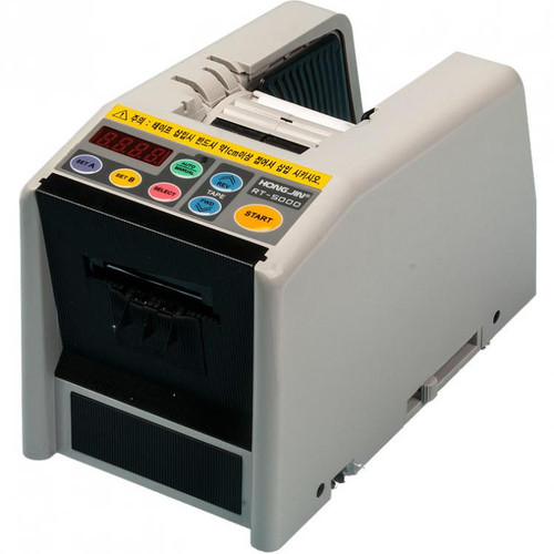 Has 6 pre-sets for various lengths of tape to be dispensers.