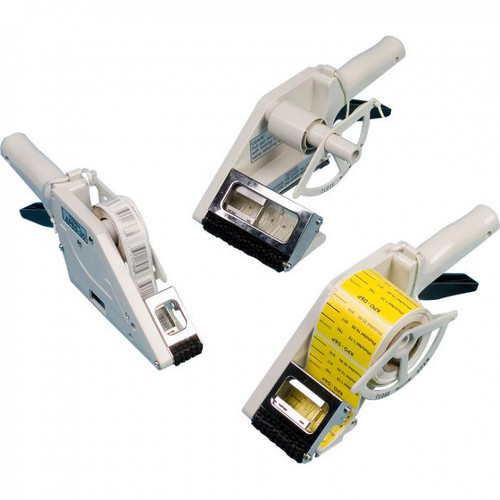 Hand-Held Label Dispensers are portable, lightweight, and easy to use.