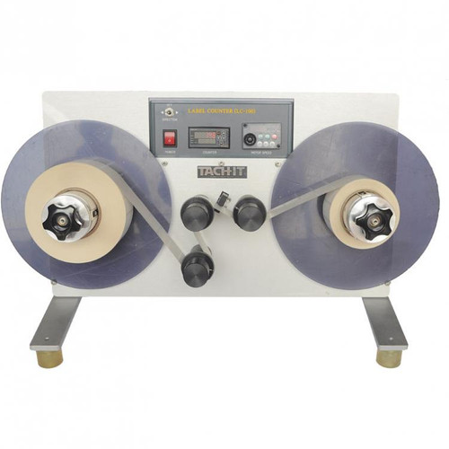 Label Counter, Re-winder and Un-winder, rewinds and unwinds labels as they are counted.