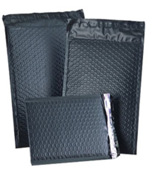 """Size #000 4""""x7"""" Black Color Poly Bubble Mailers with Peel-N-Seal"""