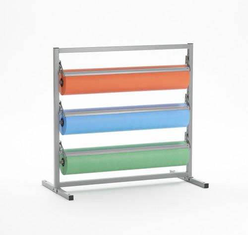 Three Deck Tower Unit Bulletin Board Paper Roll Cutter Dispenser
