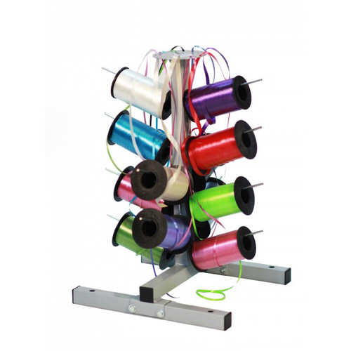Tree Stand Dispenser holds 12 spools of gift wrapping Curling Ribbon