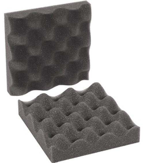 "6"" x 6"" x 2"" Charcoal Convoluted Polyurethane Foam Egg Crate Cushioning Sets"