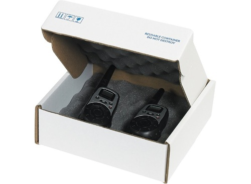 """8"""" x 8"""" x 2 3/4"""" Convoluted Charcoal / Shock Absorbing Foam Lined Shipping Boxes"""