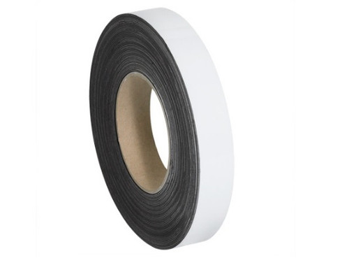 """1"""" x 100' White Magnetic Warehouse Label Rolls"""