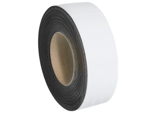 """2"""" x 100' White Magnetic Warehouse Label Rolls"""