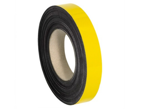 """2"""" x 100' Yellow Magnetic Warehouse Label Rolls"""