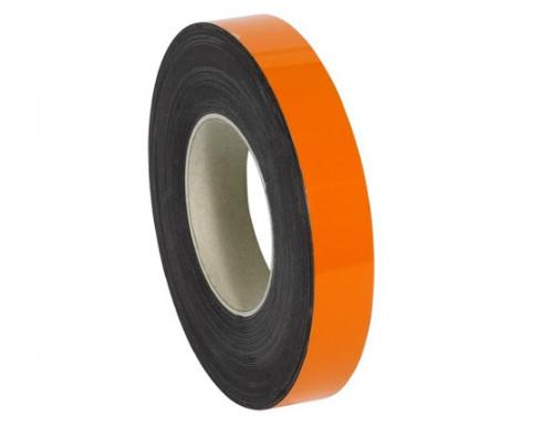 "2"" x 100' Orange Magnetic Warehouse Label Rolls"