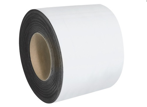 """4"""" x 100' White Magnetic Warehouse Label Rolls"""