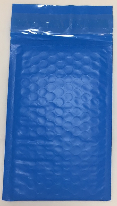 """Economy Blue Poly Bubble Mailers with Self Seal Closure 4"""" x 7"""" (500 Qty) #000 FREE SHIPPING"""