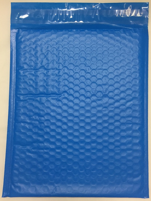 """Economy Blue Poly Bubble Mailers with Self Seal Closure 10.5"""" x 15"""" (100 Qty) #5 FREE SHIPPING"""