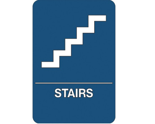 """9"""" x 6"""" """"Stairs"""" Universal ADA Compliant Signage and Graphics"""