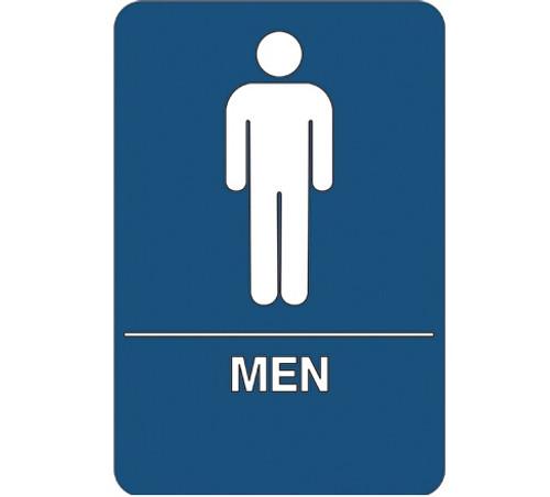 "9"" x 6"" ""Men Restroom"" Universal ADA Compliant Signage and Graphics"