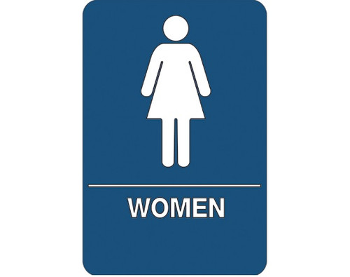 """9"""" x 6"""" """"Women Restroom"""" Universal ADA Compliant Signage and Graphics"""