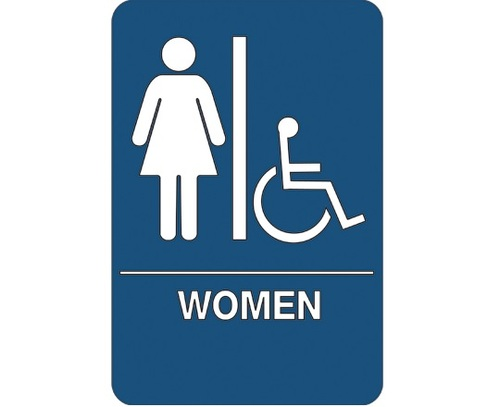 """9"""" x 6"""" """"Women/Accessible"""" Universal ADA Compliant Signage and Graphics"""