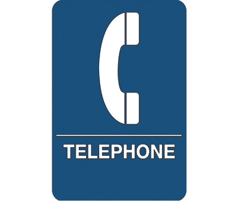 """9"""" x 6"""" """"Telephone"""" Universal ADA Compliant Signage and Graphics"""