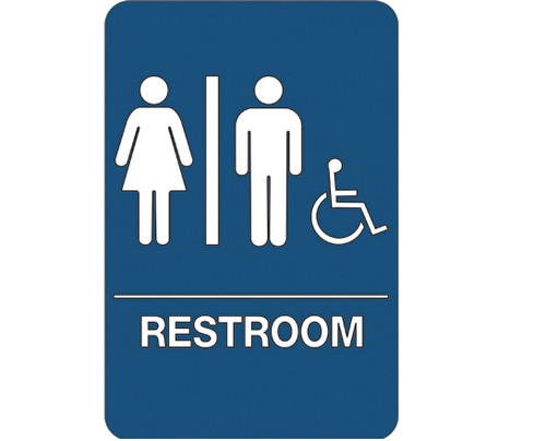 """9"""" x 6"""" """"Men/Women Accessible"""" Universal ADA Compliant Signage and Graphics"""
