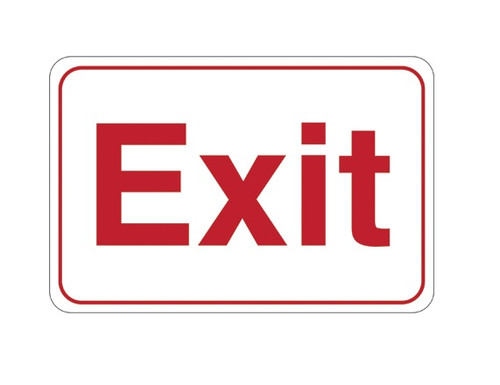 """6"""" x 9"""" """"Exit"""" Universal Instructional Facility Sign and Graphics"""