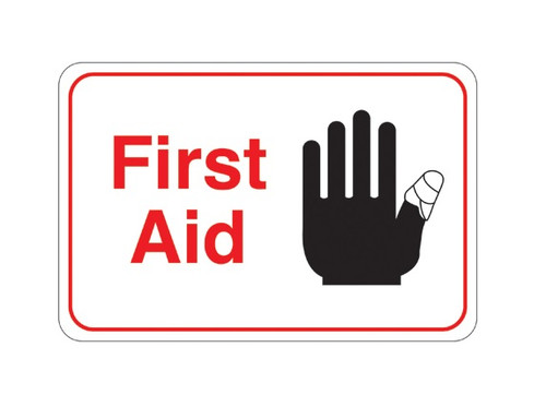"""6"""" x 9"""" """"First Aid"""" Universal Instructional Facility Sign and Graphics"""